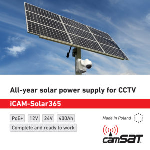 All-year solar power supply for CCTV - iCAM-Solar365