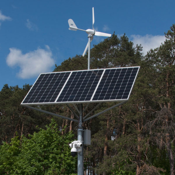 Solar and battery power for CCTV cameras
